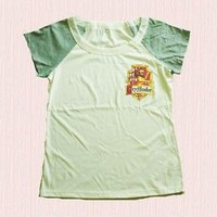 Gryffindor tee Harry potter t shirt OFF WHITE thin/wide crew neck shirt S M L