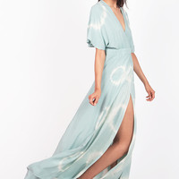 Swept Away Wrap Maxi Dress