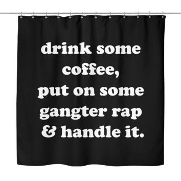 Gangster Shower Curtain | The Inked Elephant