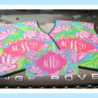 Monogrammed Gift Idea Personalized Car Mats with License Plate Monogrammed Car Mats Initial Car Mats