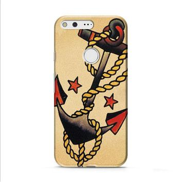 Anchor Tattoo Style Sailor Pirate Google Pixel XL 2 Case