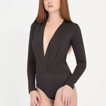 Bare It Plunging Draped Bodysuit GoJane.com