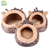 Pet Products Soft Warm Dog House Leopard Pet Sleeping Bag House for Small Medium Dog Cats S/M/L Pet Supplies