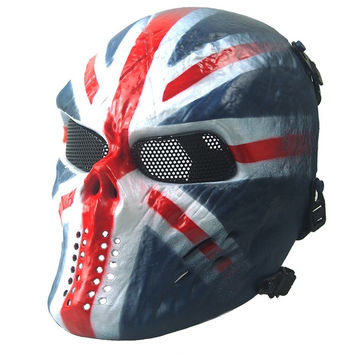 Wargame Tactical Horror Ghost Masks CS Paintball Balaclava Airsoft Full Protection Skull Mask Party Cosplay Halloween Face Mask