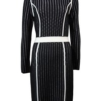 Calvin Klein Women's Textured Long Sleeves Sweater Dress