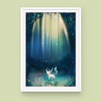 Pokemon Leafeon Poster: Spirit of Life, Eeveelutions, Pokemon Poster, Anime Poster, Art Print, Pokemon Art