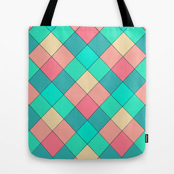 Candy Squares Tote Bag by Shannon Clark Photo & Art
