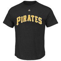 Majestic Pittsburgh Pirates Cooperstown Official Wordmark Tee