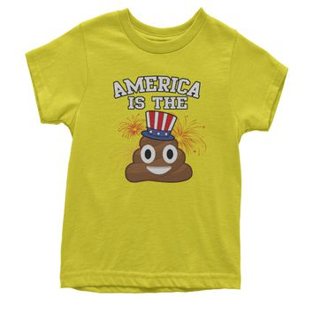America Is The Poop Emoticon Youth T-shirt