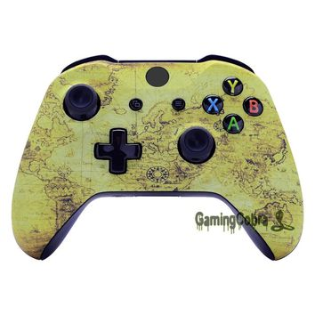 Customized Map for Age of Discovery Patterned Top Shell Faceplate Repair Part for Xbox One X One S Controller # SXOFT31X