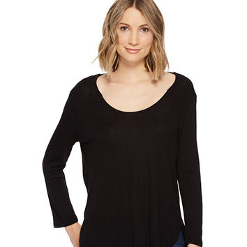 Michael Stars Slub 3/4 Sleeve Scoop Neck Tee at Zappos.com