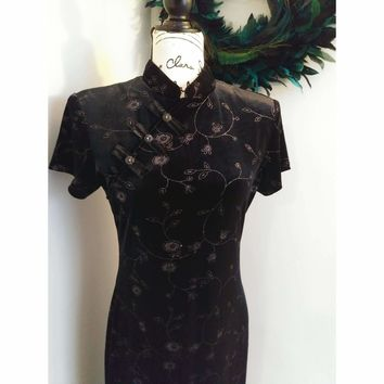 Women's Vintage Velvet Evening Gown by Sheri Martin