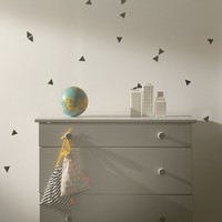 Kids Wall Sticker - Mini Triangle, Black