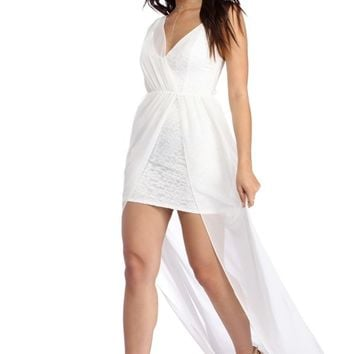 Eve White Chiffon Goddess Dress
