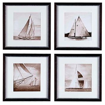 Eichholtz Michael Kahn Boat Print (set of 4)