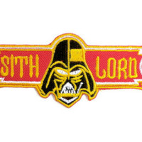 "STAR WARS Sith Lord Vader Iron On Embroidered Patch 4""/10cm"