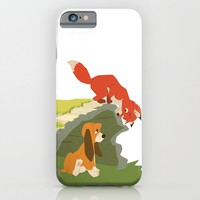 best friends forever.. a fox and a dog iPhone & iPod Case by Studiomarshallarts