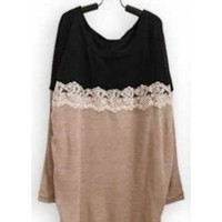 *Free Shipping@ Black Women Knitting Sweater One Size YL948298b from efoxcity