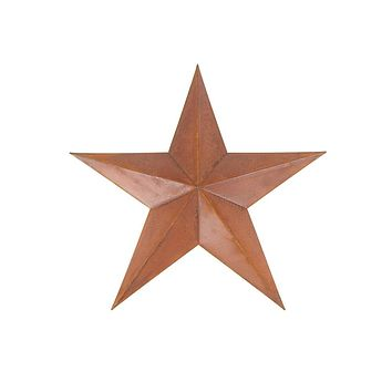 Metal Hanging Rusty Star Christmas Decor, 12-Inch