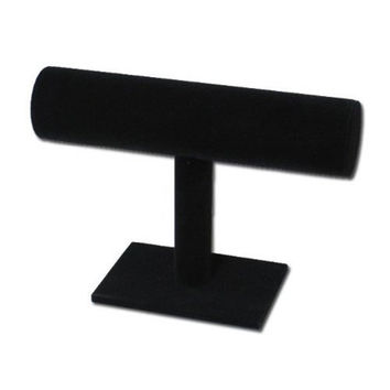 Black Velvet Bracelet T-Bar Jewelry Display Bangle