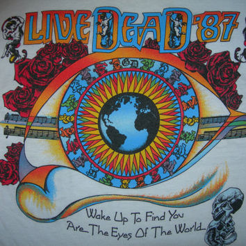 Grateful Dead T Shirt ...  Live Dead 1987 ... Eyes of the Wolrd Lot Shirt... Jerry Garcia