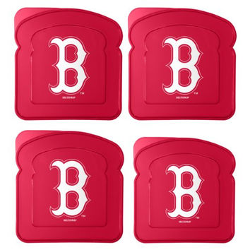MLB Boston Red Sox 4-Pack Sandwich Container