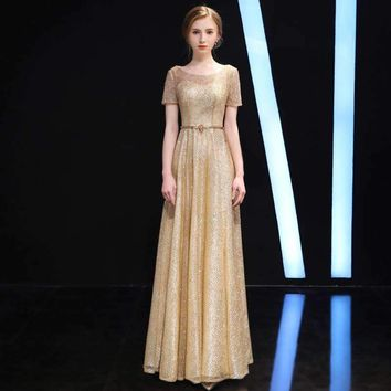 High Quality Luxury Dresses Women 2018 Runway Bridesmaid Sequin Formal Retro Winter Sexy Elegant Vintage Party Club Maxi Dress
