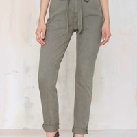 7 for All Mankind Loretta Paper Bag Jeans - Olive