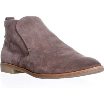 Dolce Vita Colt Casual Slip On Ankle Booties, Dark Taupe Suede, 9.5 US