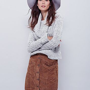 Free People Womens Hold My Hand Cord Skirt
