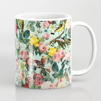 Floral and Birds III Coffee Mug by burcukorkmazyurek