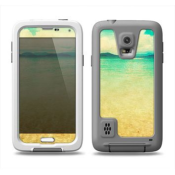 The Vintage Vibrant Beach Scene Samsung Galaxy S5 LifeProof Fre Case Skin Set