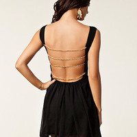 Chain Strap Back Dress, Rare London