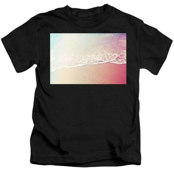 Ocean Air, Salty Hair, Watercolor Art By Adam Asar - Asar Studios - Kids T-Shirt