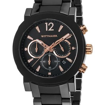 Wittnauer Aiden Chronograph Black Stainless Steel Watch WN3011