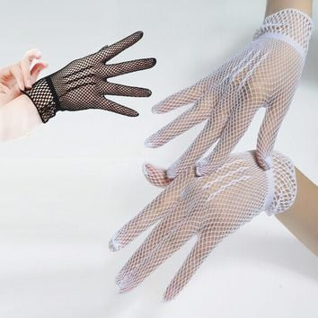 Hot Sale Fishnet Mesh Gloves Fashion Women Gloves Summer  Protection Lace Elegant Lady Style Gloves