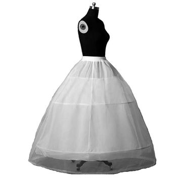 3 Hoops Crinoline Underskirt Petticoat For Wedding Dress Bridal Gown
