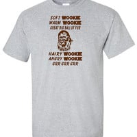 Soft Wookie - Star Wars Chewbacca Face Funny T Shirt Cute Disney Big Bang Theory Song Humor Adult Unisex Sizes Gildan Soft Kitty Episode 7