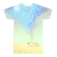 Breaking Bad R.V. At Blue Sky Background Men's Blue T-shirt