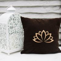 Personalized Pillow Covers Lotus Flower Yoga Meditation Pillowcase Decorative Pillow Cover Home Throw Pillows Yoga Studio Decor Gift V18