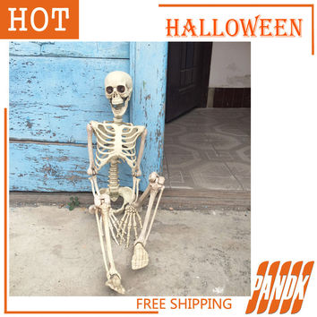 36 Inch 90cm Hanging Plastic Skeleton Halloween Decorations Holiday Props Haunted house skull skeleton bones stick Free Shipping