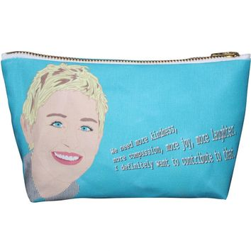 Ellen DeGeneres Pop Zipper Pouch and Makeup Bag – Illustrated and Handmade in the USA