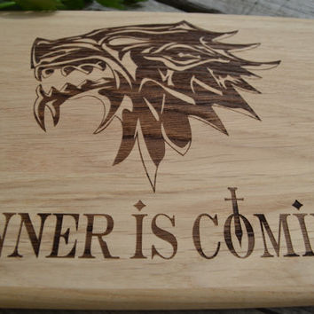 Game of Thrones Dinner Is Coming Cutting Board Kitchen Decor Git for Dad Wooden Cutting Board Cookware Original Gift