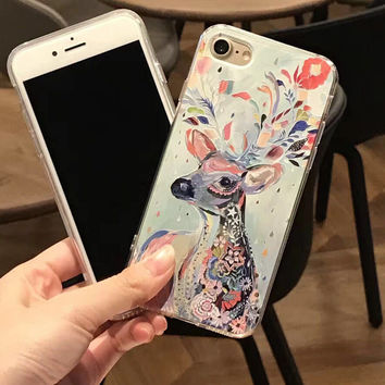 Unique Handmade Deer iPhone 7 7Plus & iPhone se 5s 6 6 Plus Case High Quality Cover +Gift Box-200