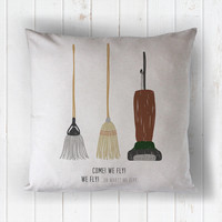 hocus pocus: we fly! - printed throw pillow