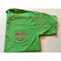 Short Sleeve Monogrammed Comfort Colors Lacrosse Shirt