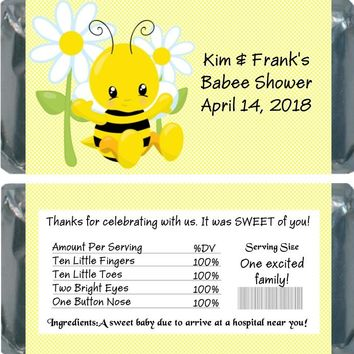 10 Bee Baby Shower Chocolate Bar Wrapper