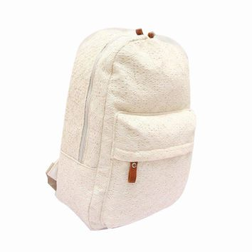 SCYL Fashion Cute Girls Lace Canvas Backpack Bag School Bag women schoolbag