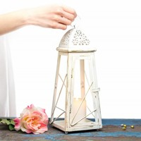 13 inch Candle Lantern Centerpiece - Table Decor