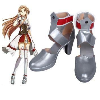 New Sword Art Online Hollow Realization Asuna cosplay shoes Anime boots Summer Sandal